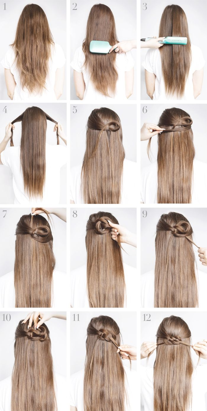 19++ Long cheveux coiffure facile le dernier