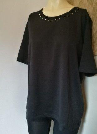 Kaufe meinen Artikel bei #Kleiderkreisel http://www.kleiderkreisel.de/damenmode/t-shirts/158411858-schwarzes-shirt-mit-strass-steinen-walbush-42-mit-etikett