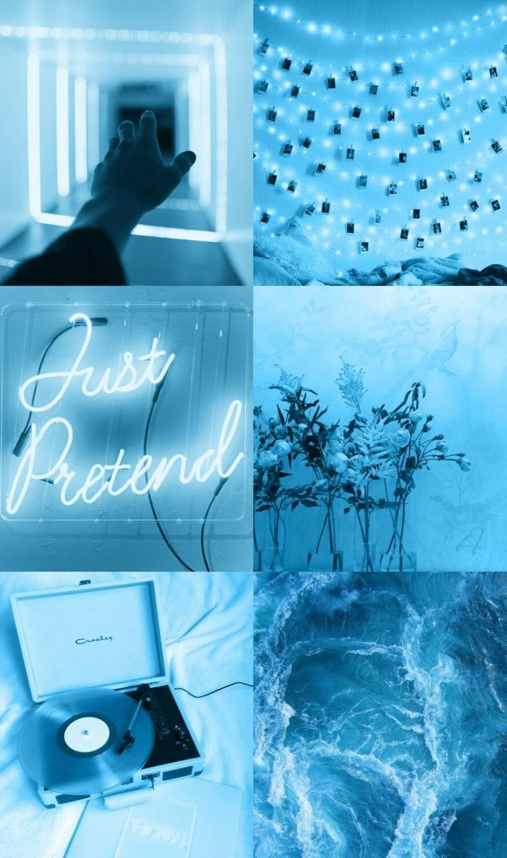 Blue Aesthetic Pictures For Wall Collage