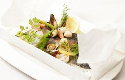 Salmon And Shellfish Recipe En Papillote - Great British Chefs