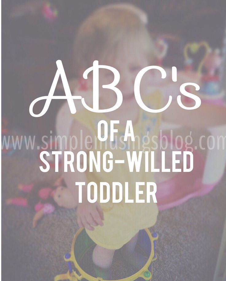 ABC's of Dealing With a Strong-Willed Toddler