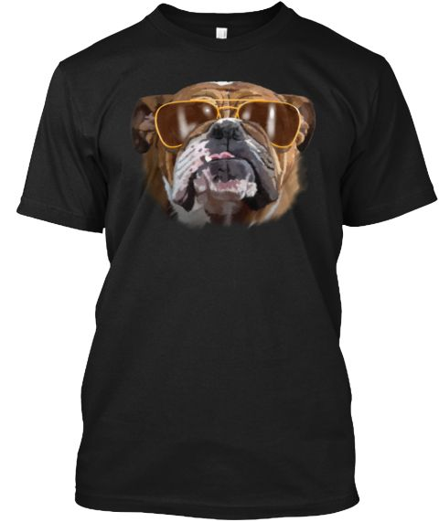Bulldog Toddler With Glasses Black T Shirt Front Mit Bildern