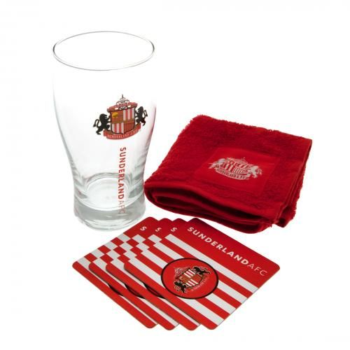 - mini bar set- 1 x pint glass- 4 x beer mats- 1 x beer towel- in a blister pack- official licensed product