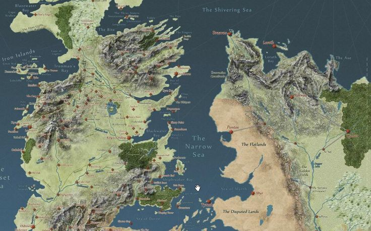 Interactive Story Map of Westeros
