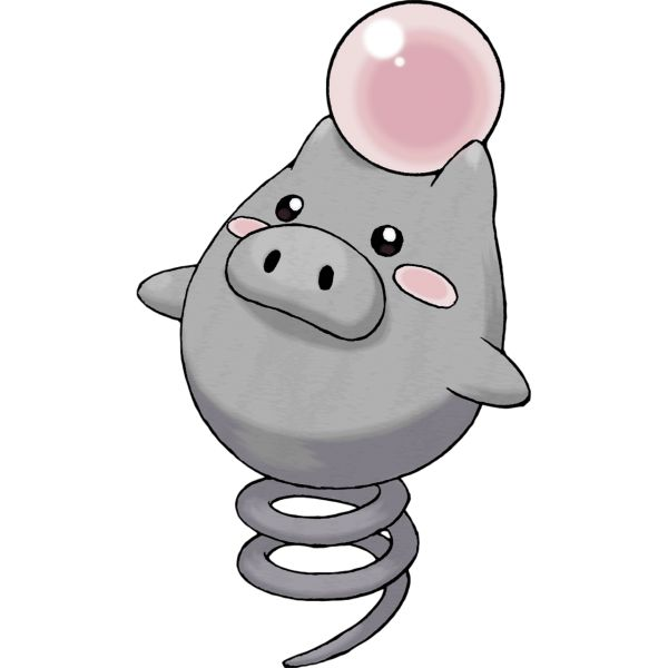 #Spoink from the official artwork set for #Pokemon Ruby & Sapphire on the #GameBoyAdvance. http://www.pokemondungeon.com/pokemon-ruby-and-sapphire-versions