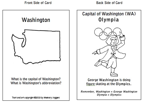 US States and Capitals the Easy, Fun Way to Learn