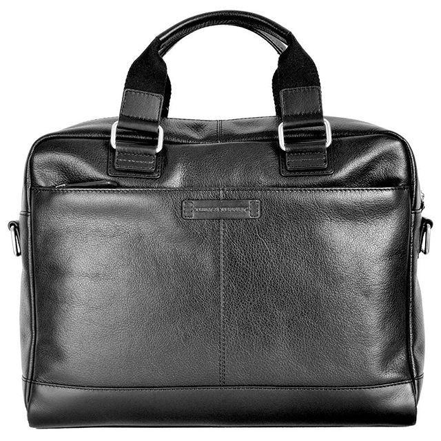 CAMBRIDGE leather work bag is now available in black. Heading into