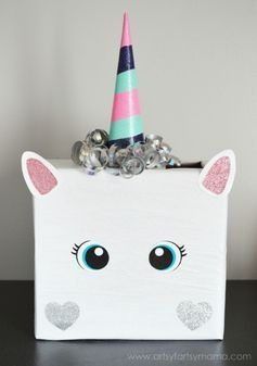 "HOW CUTE IS THIS UNICORN? There's nothing sweeter than little love notes for Valentine's Day! The classic ""shoebox stuffed with classroom Valentines"" has come a long way, and today we're sharing 30 of the cutest Valentine's Day Card Box Holder Ideas with you to inspire your own mailbox creation for February 14th."