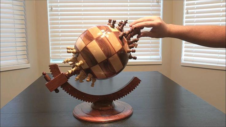 Conheça o tabuleiro de xadrez magnético com formato de globo terrestre