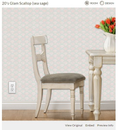 Scallop print as wallpaper