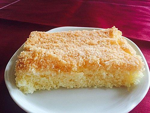 Kuchen mit kokosnuss streusel