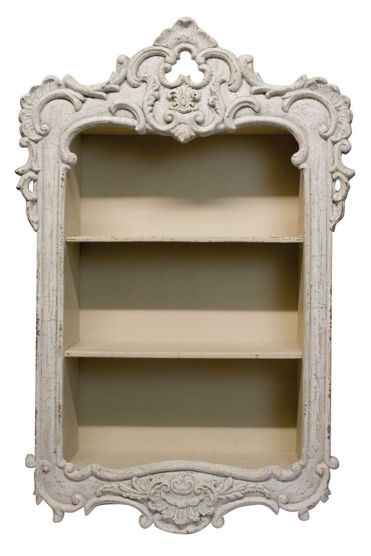 "French Country Wall Shelf. Height: 33.5"" - 85cm Width: 19.5"" - 49cm Depth: 6.5"" - 16cm"