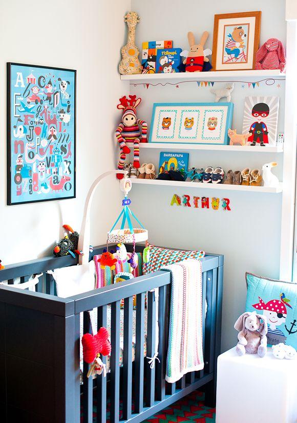 La chambre bébé d'Arthur - déco, baby, cute, baby room, chambre bébé, chambre garcon
