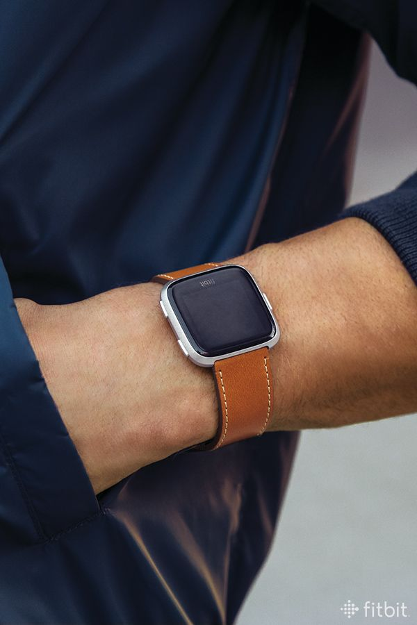 This Genuine Horween Leather Band In Saddle For Fitbit Versa