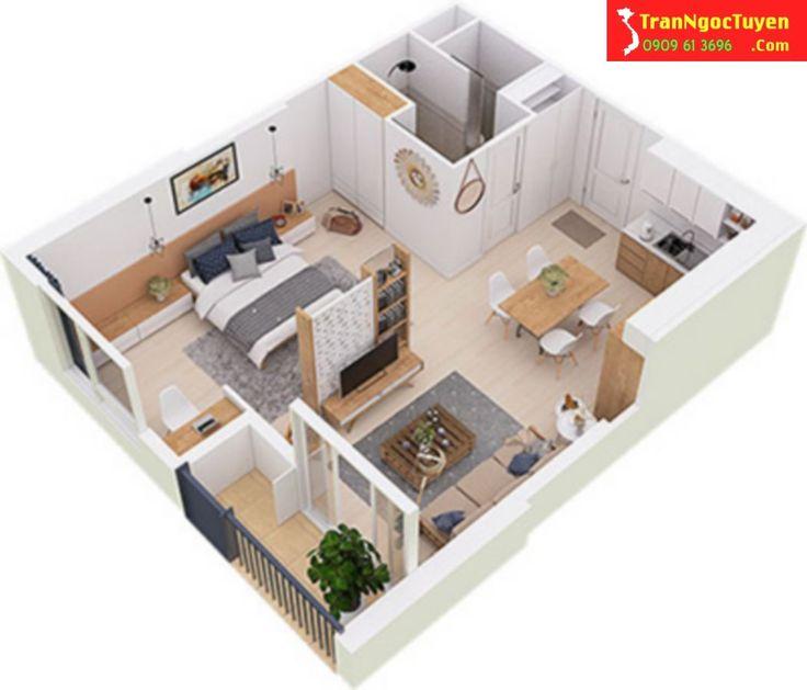 Thiết kế căn hộ West Bay Ecoaprk diện tích 45m2 - studio Hotline tư vấn West Bay Ecopark 0909.61.3696 gặp Ngọc Tuyền