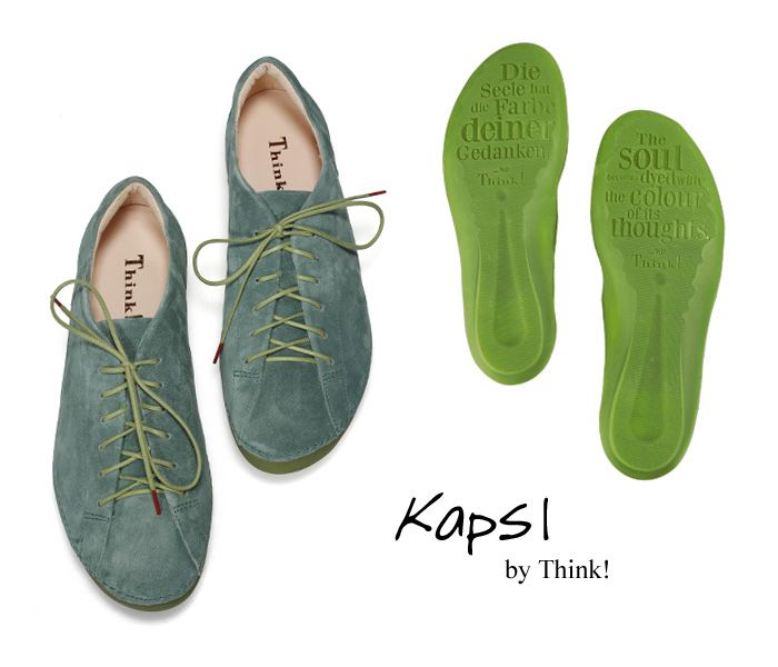 KPS 53 THINK KAPSL 84828 60 salvia Schnür Schuhe grün