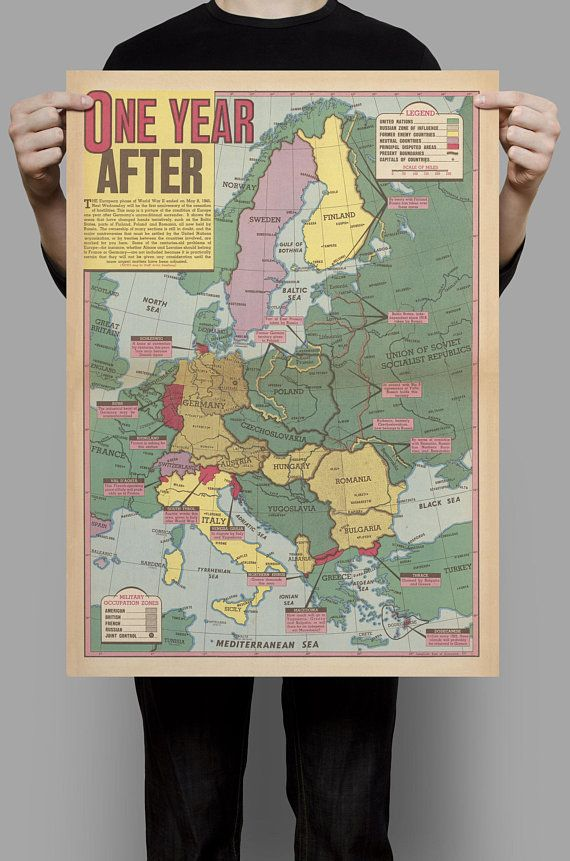 Aftermath of World War 2 Map WWii