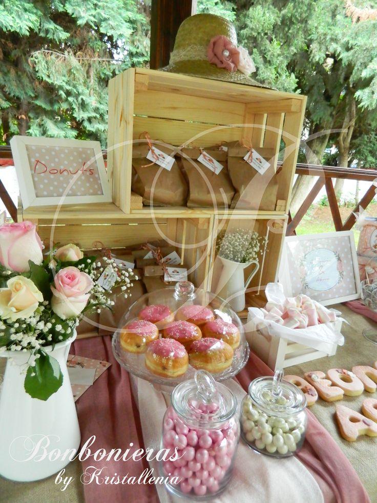 vintage vaptism, donuts, roses