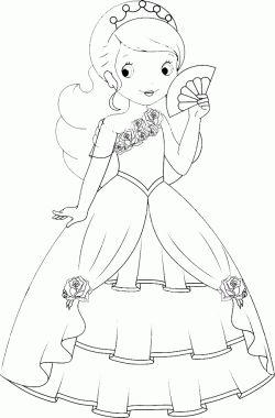 Resim Boyama Prenses Boyama Sayfasi