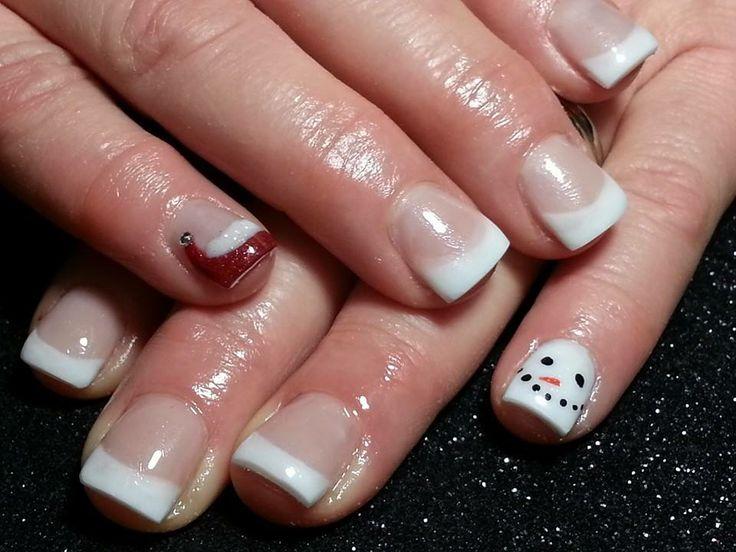 my moms snowman and santa hat nails - Best 20+ Santa Hat Nails Ideas On Pinterest Xmas Nails, Xmas