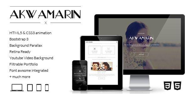 Akwamarin - One Page Parallax HTML Template - Creative Site Templates