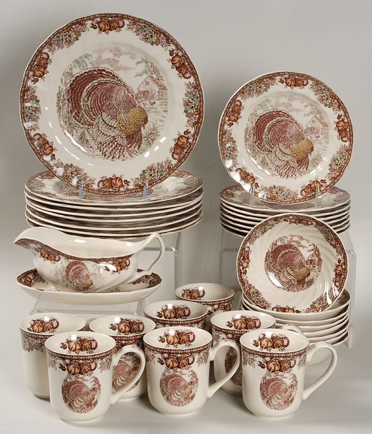 Fall Dinnerware | Johnson Brothers Autumn Monarch 34-Piece Dinnerware Set