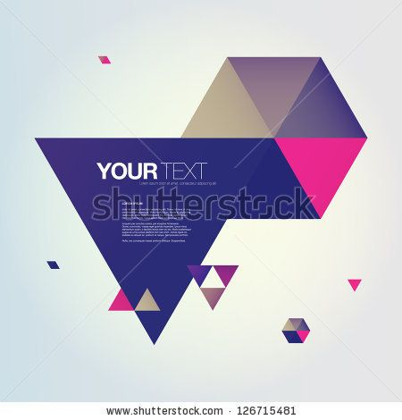 Abstract color triangles text box design vector by IrenD, via Shutterstock