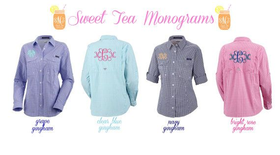 Women's Monogrammed Super Bonehead Columbia PFG Shirt Love all of these!! Maybe not the huge back monogram though...