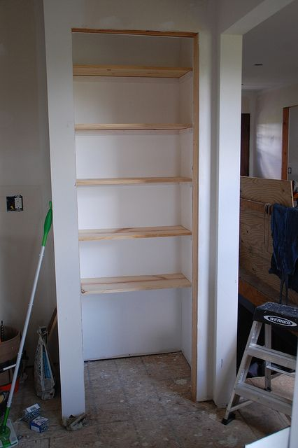 DIY shelves (pantry) - good idea when I get Andrew to replace wire shelving in the pantry :)