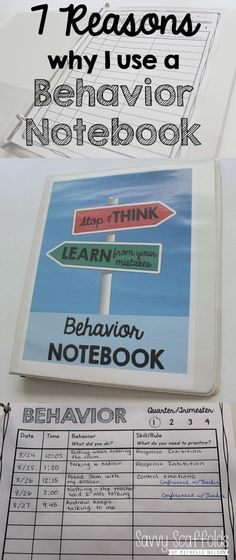 7 Reasons why I use a Behavior Notebook for classroom management and documentation. Detailed explanation and FREE Printable.