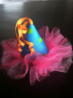 Birthday Hat Hair Clips!!!! @Sonja Lott Schleusner where was this in February?! A must for the 2nd bday, I think.