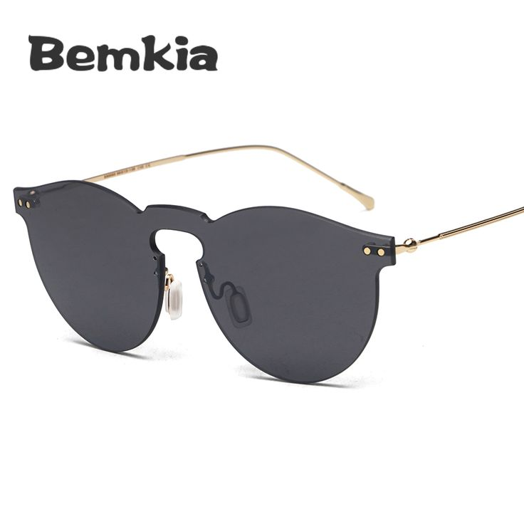 >> Click to Buy <<  Bemkia 2017 Fashion Women Vintage Sunglasses Original Brand Design Sun Glasses Female Rimless Summer Style Eyeglasses #Affiliate
