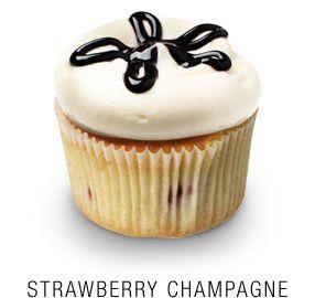 Strawberry Champagne Cupcake ;)