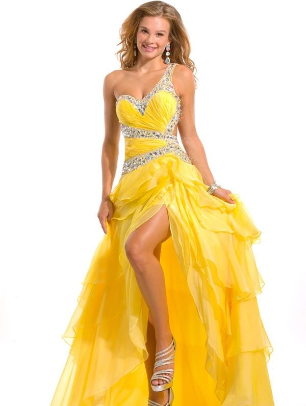 69 best Yellow Prom Dresses images on Pinterest | Prom ...