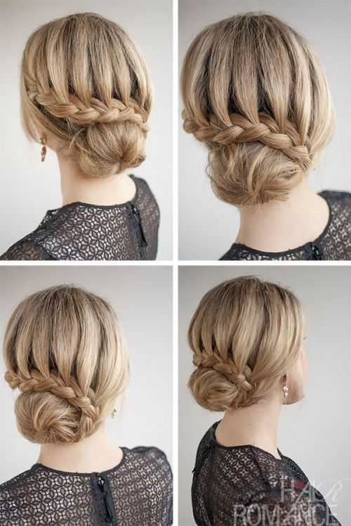 side bun hairstyles lace braided bun