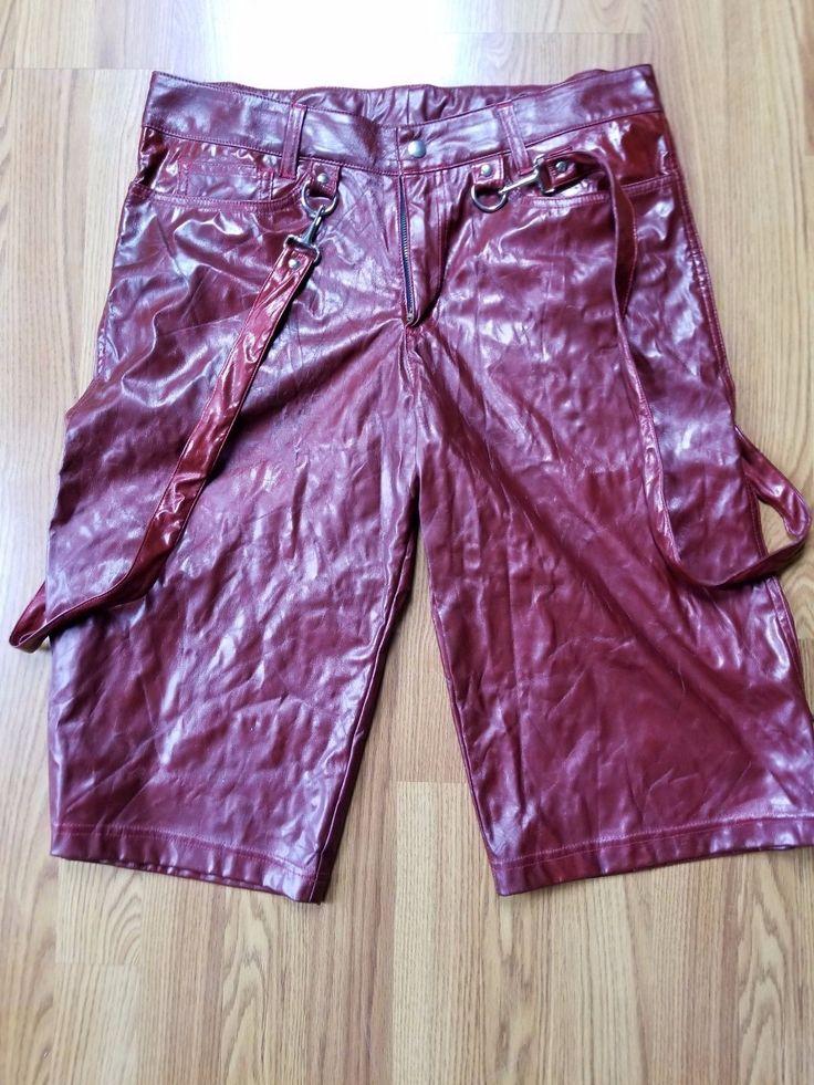 LIP SERVICE Patent Vinyl & Vegi Leather Classics shorts #38-184-G