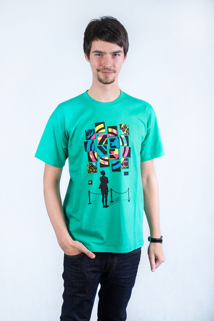 Square green t-shirt