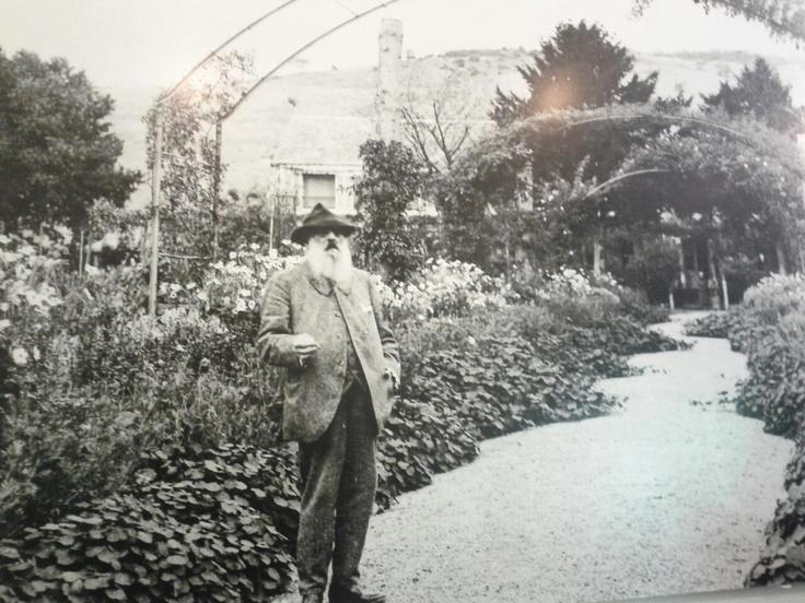 Claude Monet no museu na casa onde viveu em Giverny.