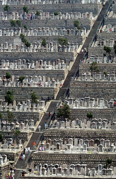 Hong Kong cemetery. | Man oh man. Everything is vertical here.