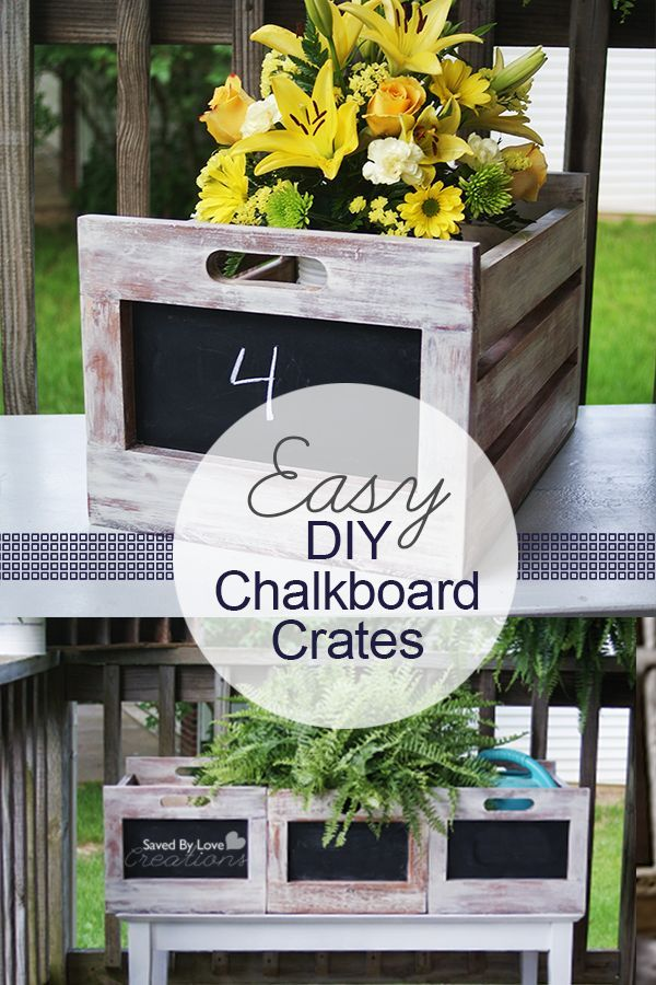 Easy Chalkboard Crates from Ana White @savedbyloves