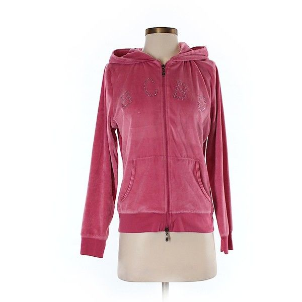 Pre-owned BCBGMAXAZRIA Zip Up Hoodie Size 12: Pink Women's Tops ($34) ❤ liked on Polyvore featuring tops, hoodies, pink, hooded pullover, pink hoodies, purple hoodie, pink hoodie and pink hooded sweatshirt