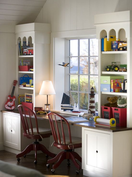 Spaces Girls Built In Desk Under Window Design, Pictures, Remodel, Decor and Ideas - page 3