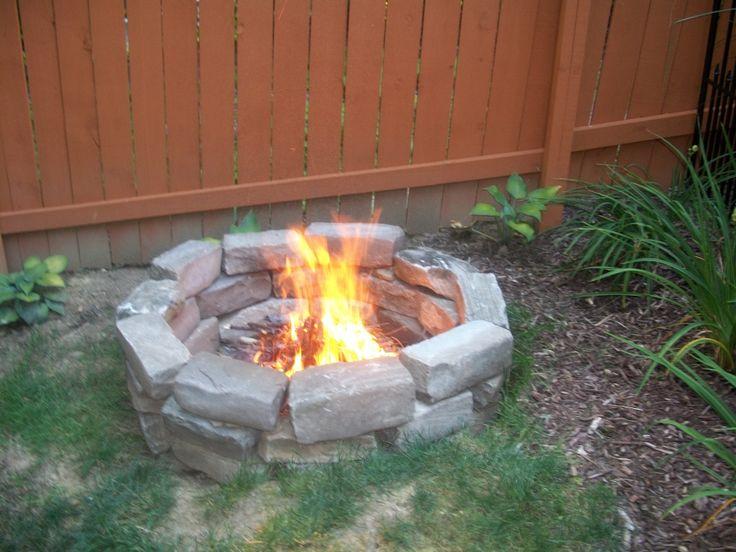 Fireproof River Rocks : Homemade fire pit pits rock pinterest