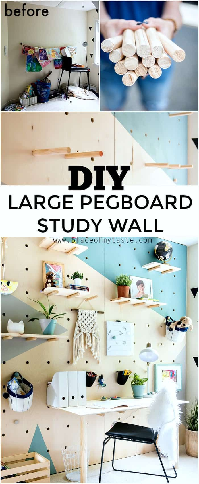 DIY PLYWOOD PEGBOARD WALL. SO COOL AND CHIC! Place Of My Taste | Home decor | Simple DIY |Eclectic home decor | Interior design| DIY projects | H