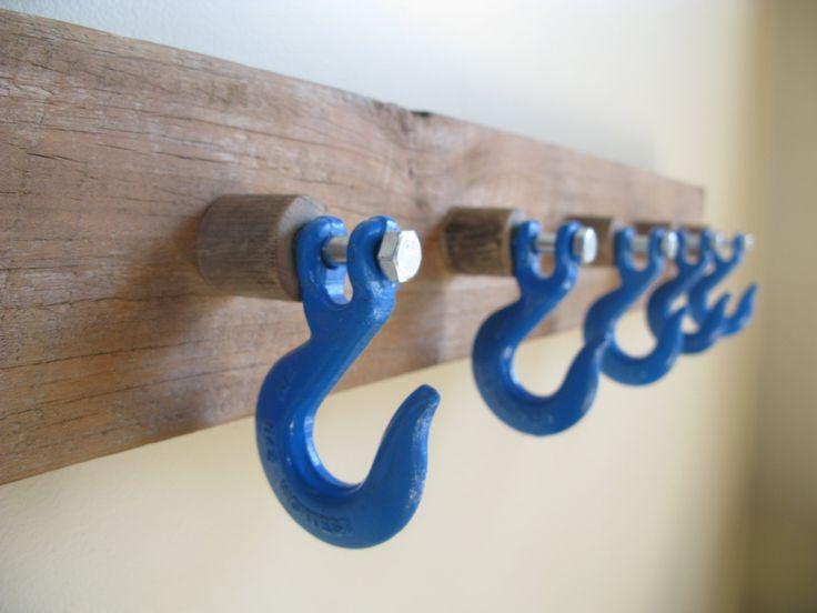 Industrial slip hook coat rack (hooks available at WW Grainger