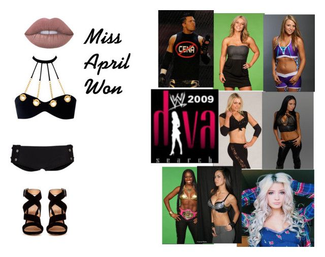"""WWE 2009 Diva Search Bikini Contest"" by leeandbulletfan ❤ liked on Polyvore featuring Agent Provocateur, Banana Moon, Gianvito Rossi, WWE, wweoc, divasearch and LizzieGrayson"