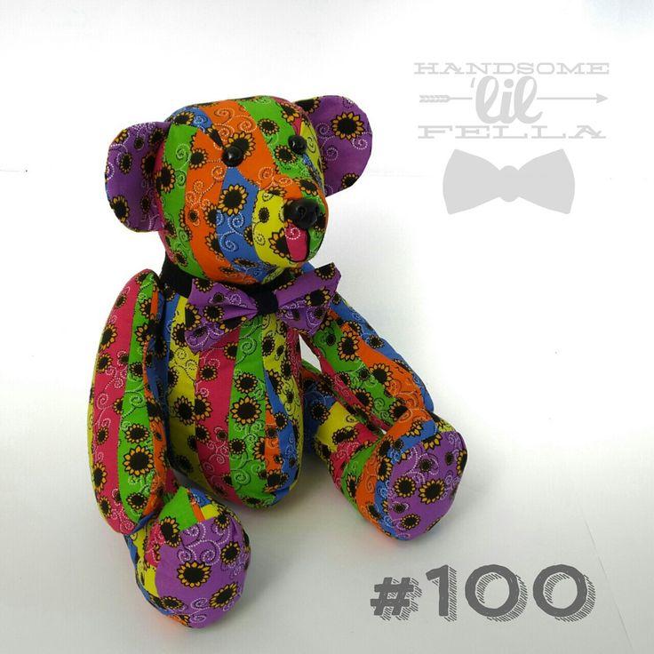 i-Bear 100 - Rainbow Bear for the kids of the Rainbow Nation #100 #Teddy #Bear #Rainbow #SunflowerFund