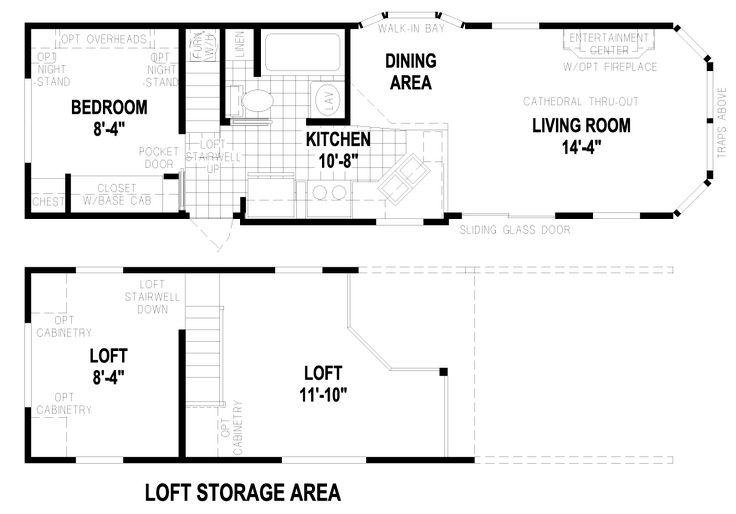 White Plains 12 X Park Model RV Floor Plan | Factory Expo Park Models