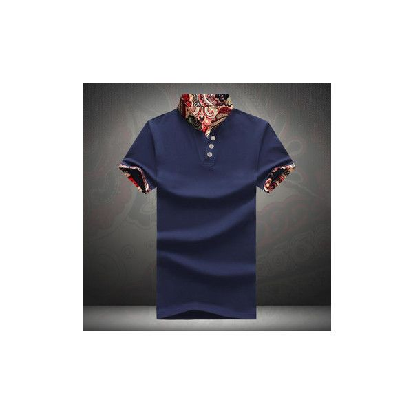 L-5XL Vintage Chinese Style Printing Stand Collar Slim Fit Short... (1.320 RUB) ❤ liked on Polyvore featuring men's fashion, men's clothing, men's shirts, men's t-shirts, men t-shirts & vest, navy blue, mens vest, mens summer vests, mens short sleeve t shirts and mens t shirts
