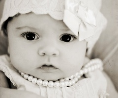 beautiful baby girl and her sweet little pearls <3
